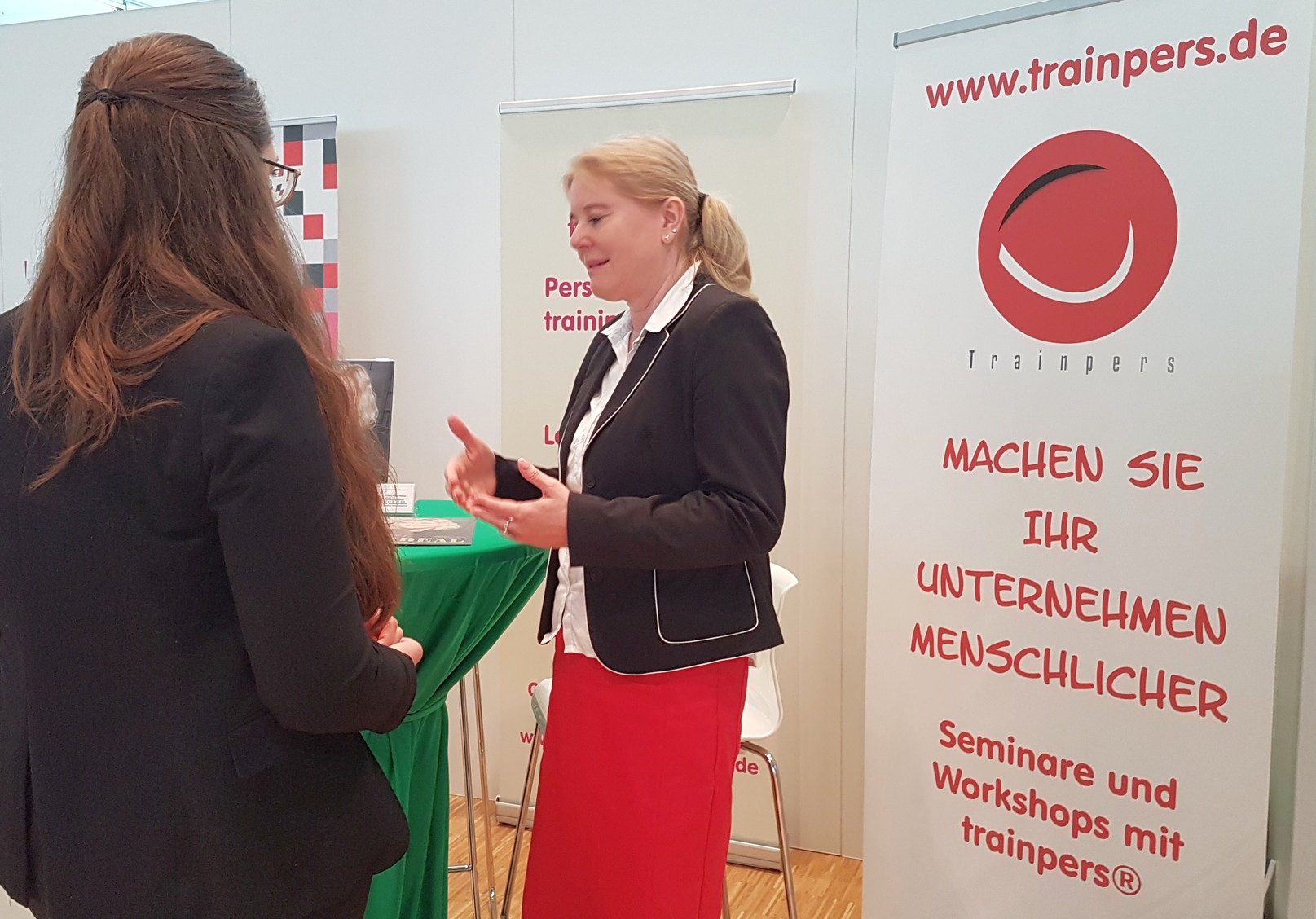 Messestand Womenandwork in Frankfurt 1