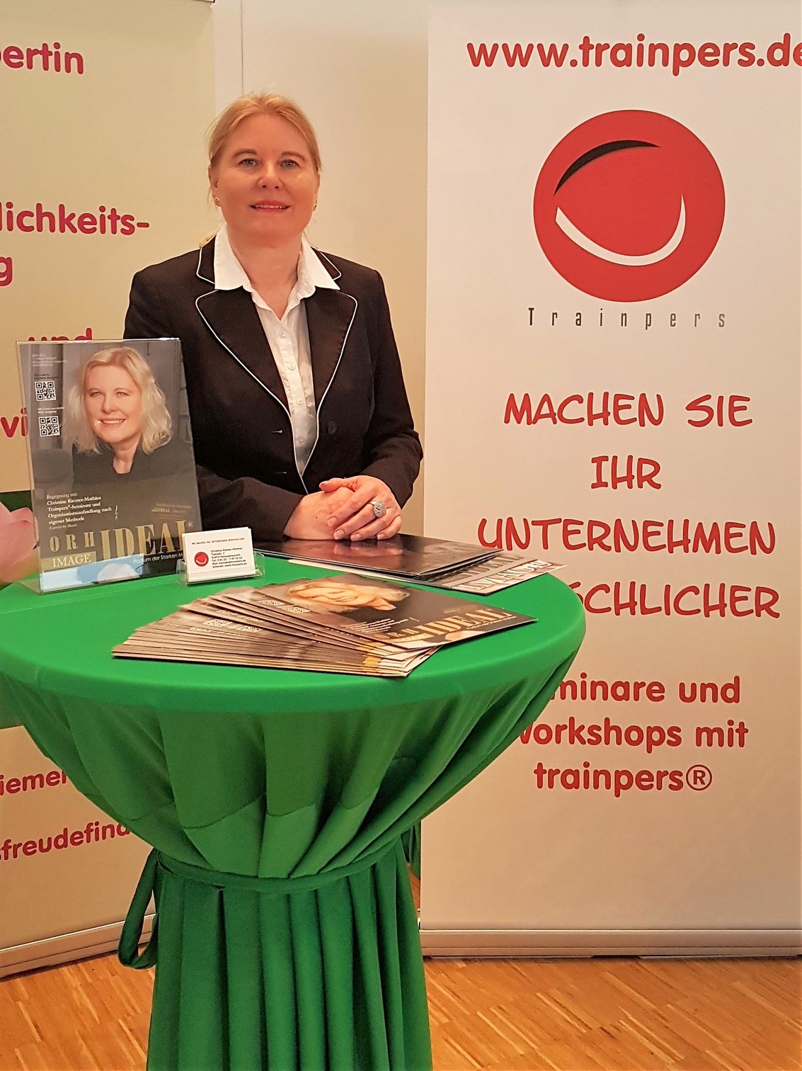 Messestand Womenandwork in Frankfurt 2